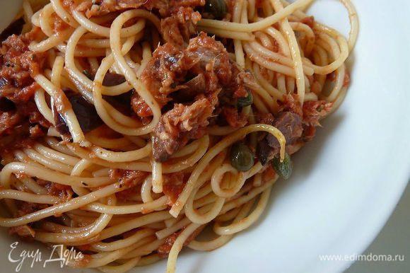 Очень рекомендую любителям пасты - Спагетти «Алла Путтанеска» от Жанны. Очень вкусно и быстро ! http://www.edimdoma.ru/retsepty/64261-spagetti-alla-puttaneska?page=1