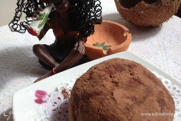 """Достаем наши орехи из холодильника, если кое-где появились """"просветы"""" творога, просто еще раз обваляем шары в какао. И радуем наших домашних вкусным, легким, полезным и красивым десертом!!!"""