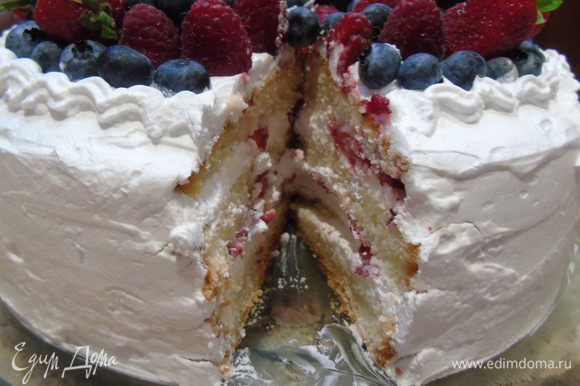 Вот тортик в разрезе .
