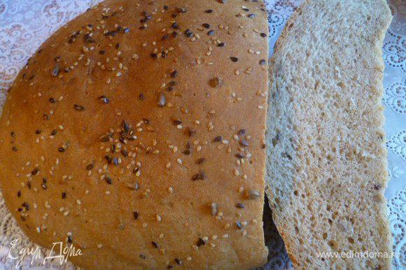 Хлеб получился ароматный и удивительно вкусный!