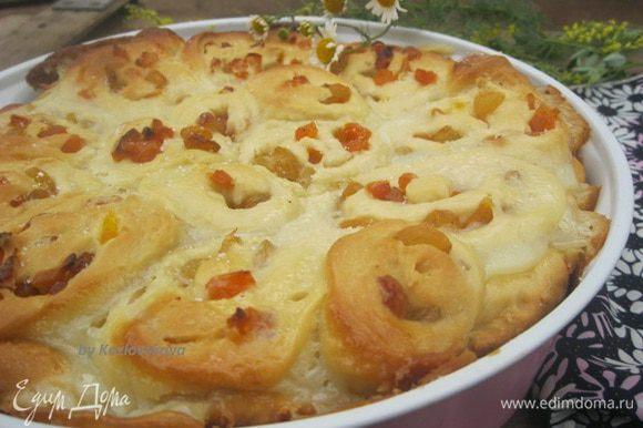 Летом пекла пирог, с начинкой из сухофруктов,тоже было оч вкусно)))