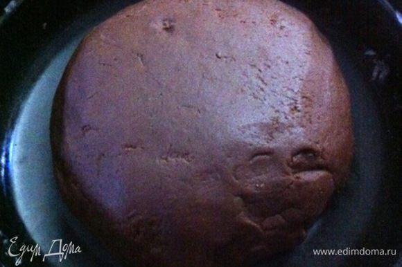 Тесто должно получиться плотным и эластичным. Собираем тесто в шар, заворачиваем в пищевую пленку и убираем в холодильник на ночь. На следующий день выпекаем пряники.