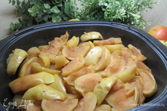 Яблоки вынимаем из духовки и тоже остужаем.