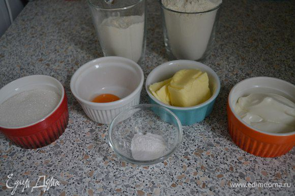 Ингредиенты для теста должны быть комнатной температуры.