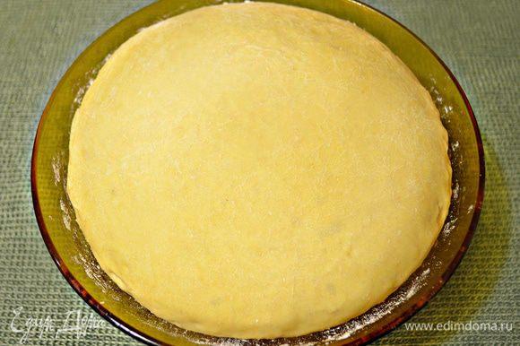 Спустя 50 минут тесто достаточно хорошо поднимется.