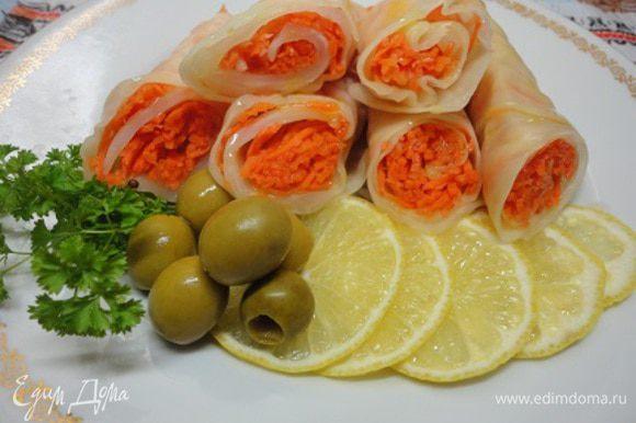 При подаче сбрызнуть соком лимона и полить оливковым маслом (ну это уже дело вкуса). Приятного хруста!