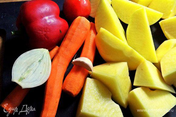 Для овощного слоя продукты.
