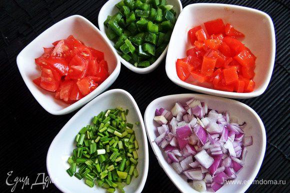 Итак, фасоль и овощи готовы.