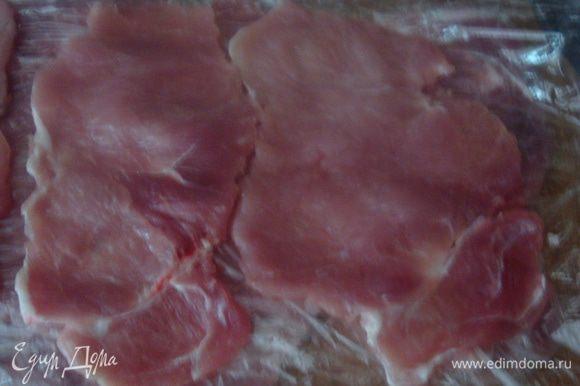 Мясо хорошо отбиваем.