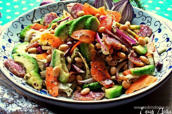 Кому интересно,вот другой салат с этой же колбаской из моих любимых продуктов: http://www.edimdoma.ru/retsepty/75303-salat-s-vyalenoy-kolbaskoy-pod-limonnoy-zapravkoy