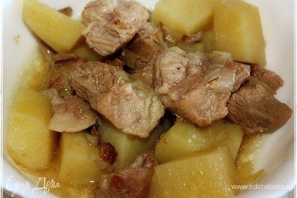 Хороша картошка, а уж свинина. Ангела вам за трапезой!