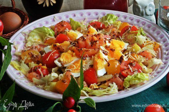 Такому салату лучше дать настояться минут 5 — 10, тогда чиа полностью размякнут, и все овощные соки объединяться.