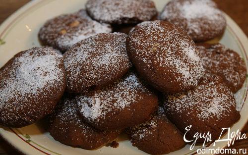 Рецепт Шоколадное печенье с фундуком