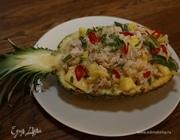 Курица с рисом и ананасами