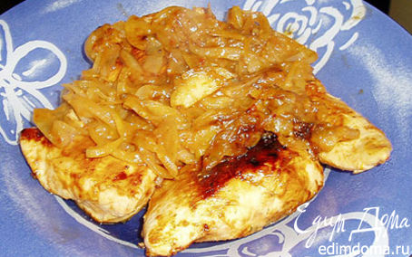 Рецепт Курица-барбекю на сковородке