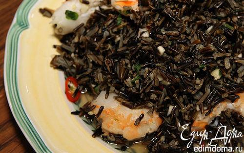 Рецепт Салат из дикого риса с креветками