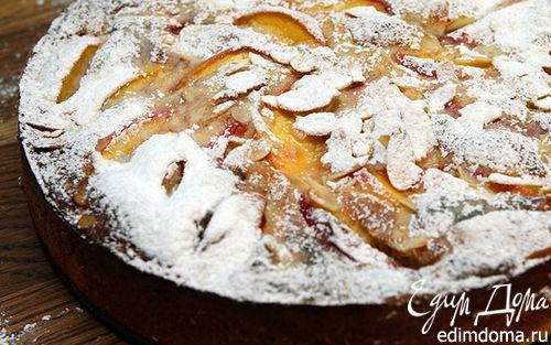 Рецепт Миндальный торт с персиками
