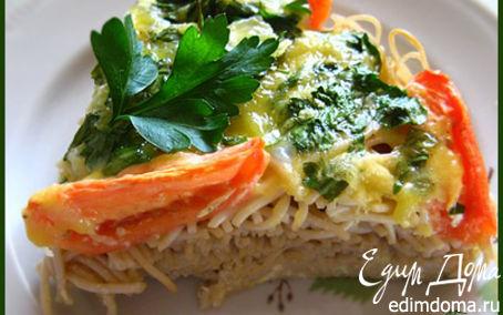 Рецепт Спагетти с помидорами и сыром