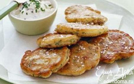 Рецепт Оладьи с грибами