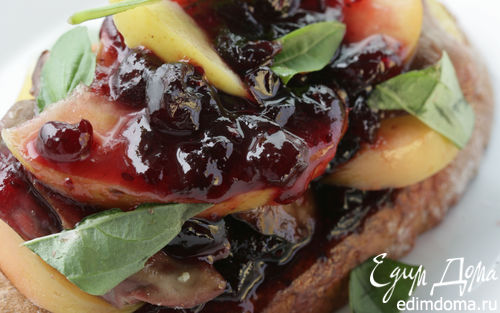 Рецепт Куриная печенка с яблоками