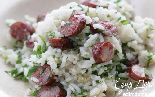 Рецепт Рис с острыми колбасками