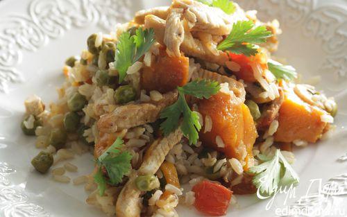 Рецепт Овощной плов с индейкой