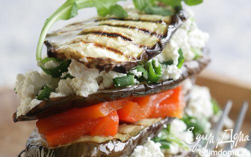 Рецепт «Наполеон» из овощей-гриль и творога