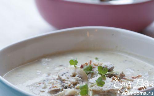 Рецепт Грибной суп с белым вином