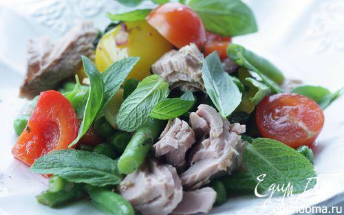 Рецепт Пряный салат с тунцом