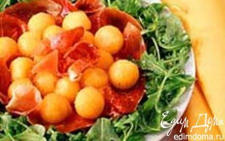 Рецепт Нежный салат с дыней