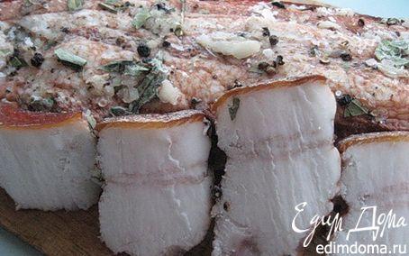 Рецепт Сало в луковой шелухе.