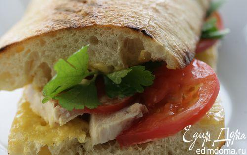 Рецепт Сэндвич с курицей и домашним майонезом