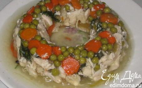 Рецепт Заливное из курицы с овощами