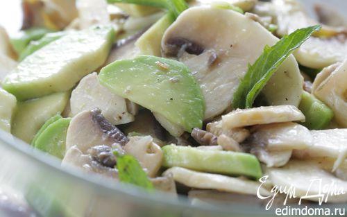 Рецепт Салат из шампиньонов и авокадо