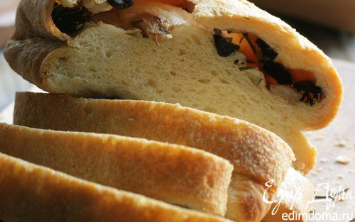 Рецепт Хлеб с оливками и чесноком