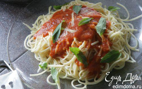 Рецепт Спагетти с имбирем и помидорами