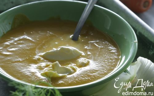 Рецепт Морковный суп-пюре с кориандром