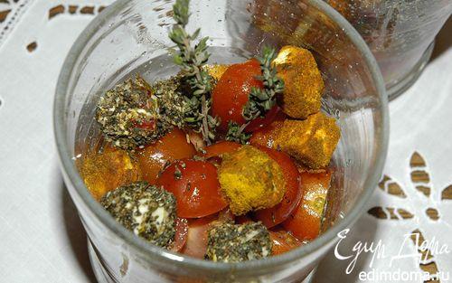 Рецепт Салат из перца с фетой и помидорами