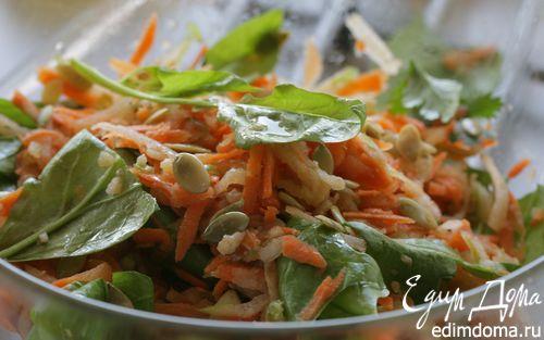 Рецепт Салат из яблок и моркови