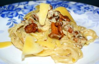 Рецепт Паста с лисичками (или белыми грибами)