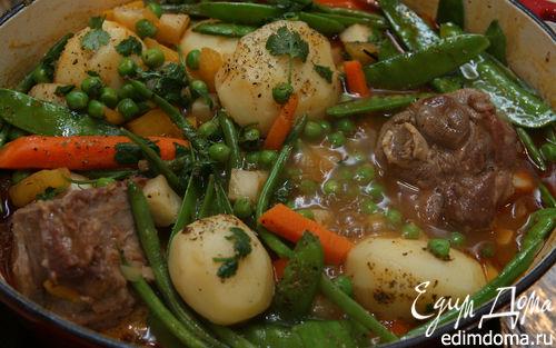 Рецепт Баранина с весенними овощами