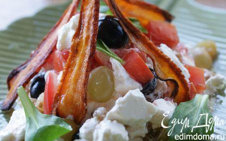 Рецепт Салат из феты с изюмом, болгарским перцем и виногр