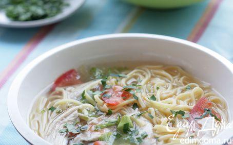 Рецепт Холодный острый суп с овощами и лапшой