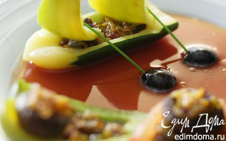 Рецепт Фаршированные овощи с томатным соусом