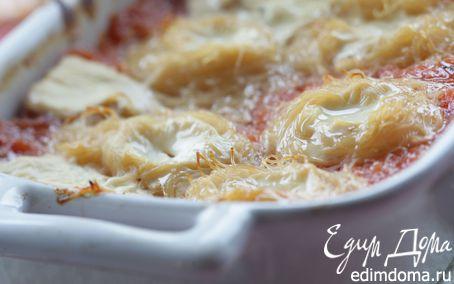 Рецепт Тушеные помидоры с индийской лапшой «пападамы»