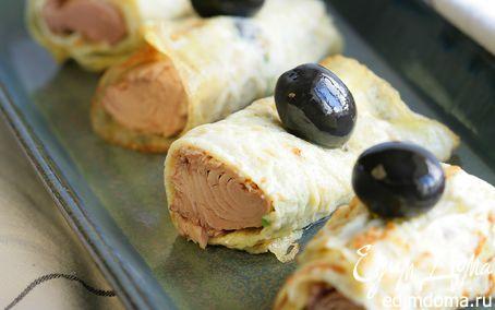 Рецепт Быстрая омлетная закуска с маслинами и сардинами