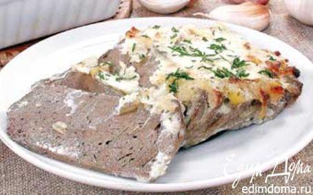 Рецепт Свиная печень с чесноком
