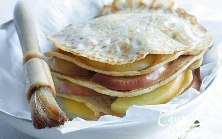 Рецепт Блинный торт с цукини и яблоками