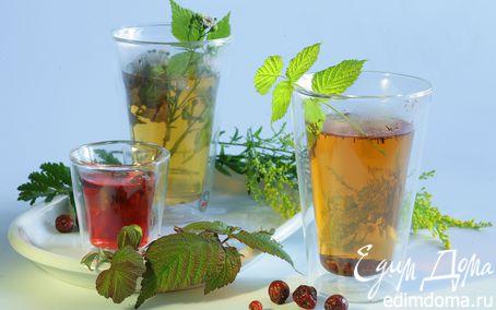 Рецепт Чай с шиповником и крапивой