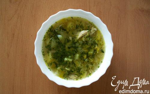 Рецепт Куриный суп с яблоками.